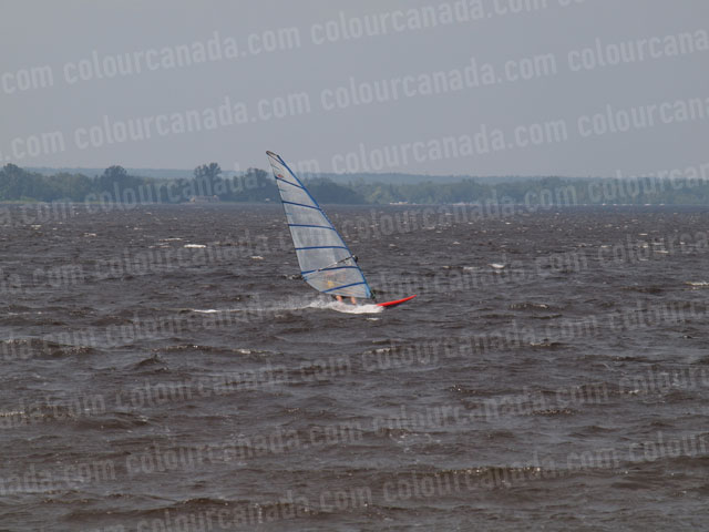 Windsurfer (2) Orange with Clear Sail | Cheap Stock Photo