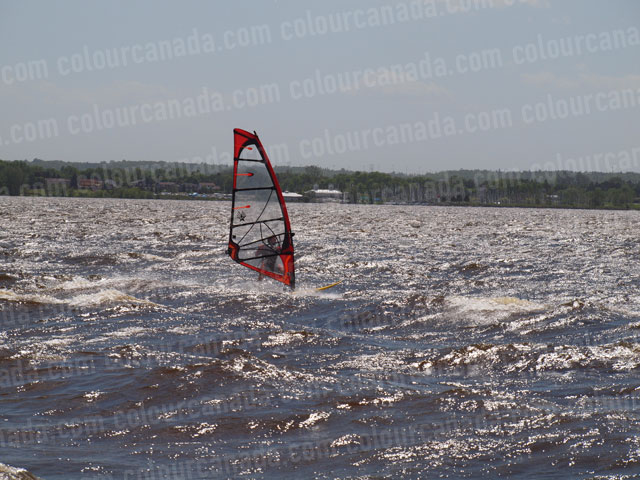 Windsurfer (3) Red Sail | Cheap Stock Photo