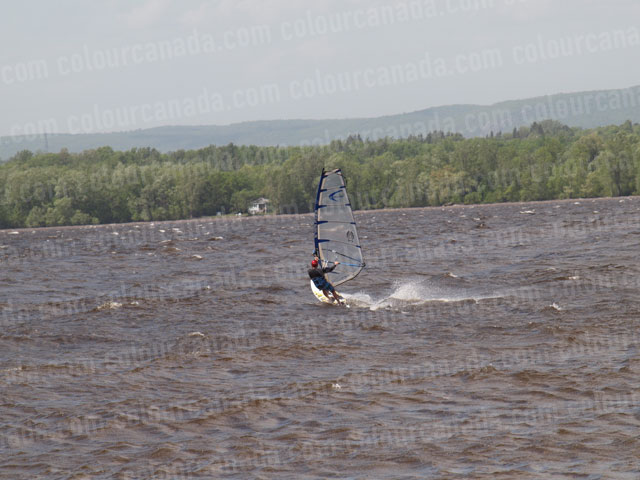 Windsurfer (5) Clear Sail Reaching Away | Cheap Stock Photo