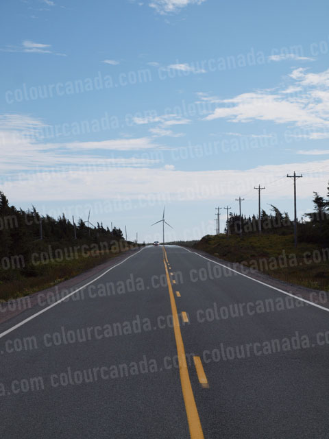 Wind Turbine (1) and Car | Cheap Stock Photo
